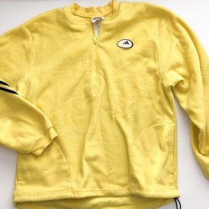 Adidas yellow fleece jacket